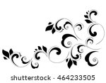 decorative element border.... | Shutterstock .eps vector #464233505