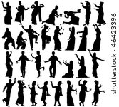 set of silhouettes of... | Shutterstock . vector #46423396