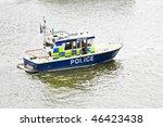 Patrol Boat At River Thames Fo...