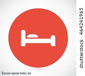 bed vector icon | Shutterstock .eps vector #464241965