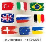 collection of popular world... | Shutterstock .eps vector #464243087