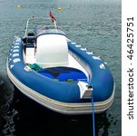 Blue Motor Inflatable Boat In...