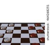 3d illustration of chess ... | Shutterstock . vector #464268251