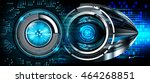 blue abstract cyber future...   Shutterstock . vector #464268851