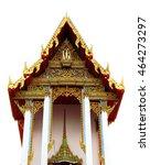 the temple in bangkok  thailand   Shutterstock . vector #464273297