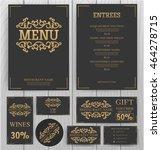 elegant menu template. | Shutterstock .eps vector #464278715
