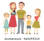 young family. parents and... | Shutterstock .eps vector #464295314
