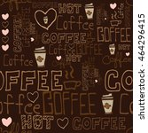 pattern coffee background   Shutterstock .eps vector #464296415