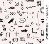 seamless pattern vector hand... | Shutterstock .eps vector #464302574