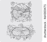 landscape labels | Shutterstock .eps vector #464303471