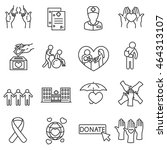 health protection icons set.... | Shutterstock .eps vector #464313107