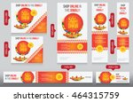 diwali festival website banner... | Shutterstock .eps vector #464315759