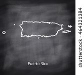 commonwealth of puerto rico map ... | Shutterstock .eps vector #464321384