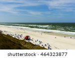 strong wind at sylt beach | Shutterstock . vector #464323877