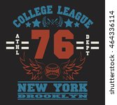 new york sport wear typography... | Shutterstock . vector #464336114