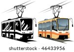 vector illustration tramway | Shutterstock .eps vector #46433956