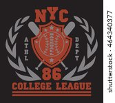 new york sport wear typography... | Shutterstock . vector #464340377