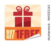 orange buy 1 get 1 free... | Shutterstock . vector #464352161