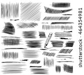 pencil sketches. hand drawn... | Shutterstock .eps vector #464354981