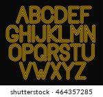 retro font. line alphabet | Shutterstock .eps vector #464357285