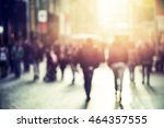 people walking in the street ... | Shutterstock . vector #464357555