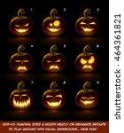 vector icons of a lighten jack... | Shutterstock .eps vector #464361821