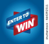 enter to win arrow tag sign... | Shutterstock .eps vector #464392511