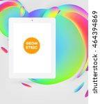 abstract vector background with ... | Shutterstock .eps vector #464394869
