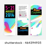 abstract liquid bubbles shapes... | Shutterstock .eps vector #464394935