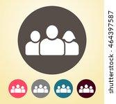 team icon in round shape. | Shutterstock .eps vector #464397587
