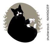 cat sleeps   Shutterstock . vector #464406359