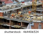 the workers at the construction ... | Shutterstock . vector #464406524