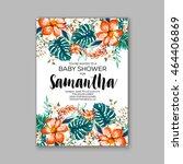 baby shower invitation template ... | Shutterstock .eps vector #464406869