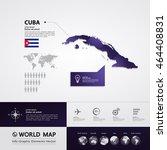 cuba map vector illustration  | Shutterstock .eps vector #464408831