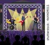 concert pop group artists on... | Shutterstock .eps vector #464409011