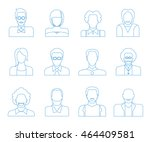 people icons  user icons | Shutterstock .eps vector #464409581