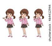 girl pose | Shutterstock .eps vector #464412944