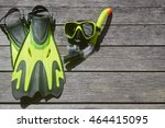 scuba diving and snorkelling....   Shutterstock . vector #464415095