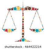 balance shape vector design by... | Shutterstock .eps vector #464422214