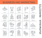 set vector icons. business and... | Shutterstock .eps vector #464422721