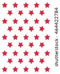 red stars on the white... | Shutterstock .eps vector #464422784