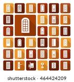doorway and hardware. set of...   Shutterstock .eps vector #464424209