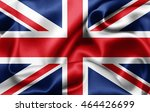 united kingdom flag of silk 3d... | Shutterstock . vector #464426699
