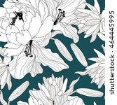 floral seamless pattern.vector...   Shutterstock .eps vector #464445995