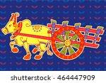 vector design of bullock cart...   Shutterstock .eps vector #464447909