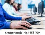 computer course participants... | Shutterstock . vector #464455409