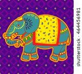 vector design of decorated... | Shutterstock .eps vector #464456981