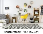 spacious white cozy teenager... | Shutterstock . vector #464457824