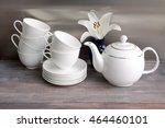 White Porcelain Tea Set  ...