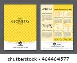 brochure template design.... | Shutterstock .eps vector #464464577